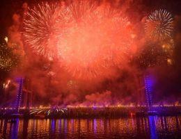 """احتفالات مصر برأس السنة 2021 أعلى كوبري """"تحيا مصر"""""""