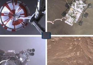 شاهد| أول مقطع لهبوط المسبار «برسفيرنس» على المريخ
