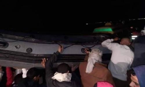 صور| نزهة تحولت إلى نكبة.. 19 ضحية في غرق مركب مريوط