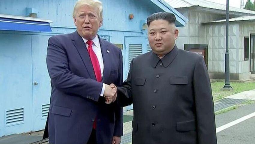 بالفيديو| في لقاء تاريخي.. ترامب أول رئيس أمريكي يزور كوريا الشمالية
