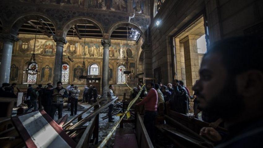 13 قتيلا و42 جريحا في انفجار كنيسة مار جرجس بطنطا