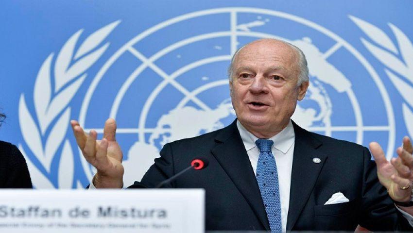 دي ميستورا يناشد روسيا وتركيا وإيران ضمان الهدنة في سوريا