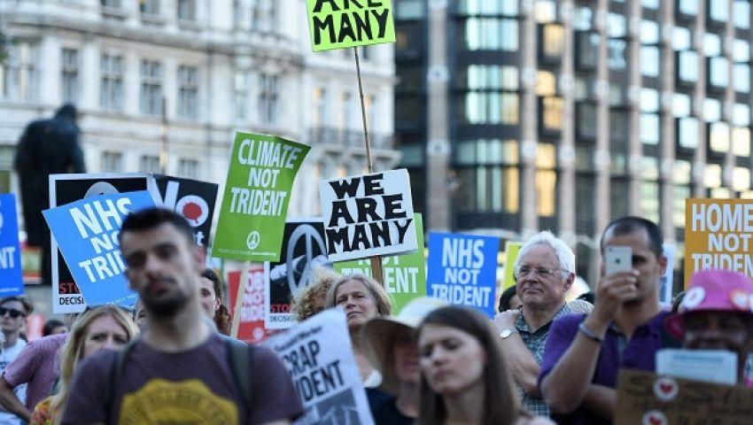 آلاف البريطانيين يتظاهرون احتجاجًا على الخروج من الاتحاد الأوروبي