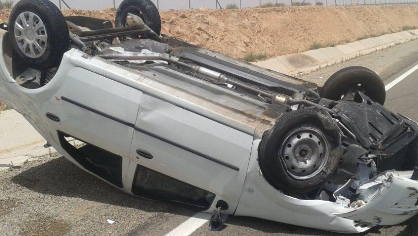 مصرع 6 أشخاص في حادث انقلاب سيارة ببنها