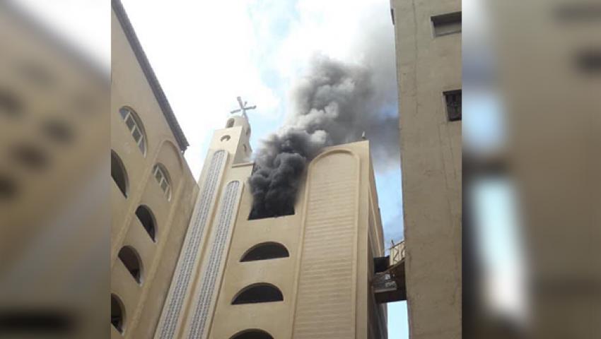 دون وفيات.. حريق بكنيسة «دميانة» في الهرم