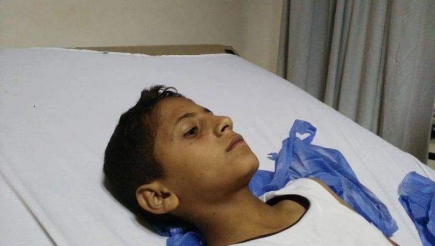 بالصور|تفاصيل إصابة 4 أطفال في انفجار عبوة ناسفة بالشيخ زويد