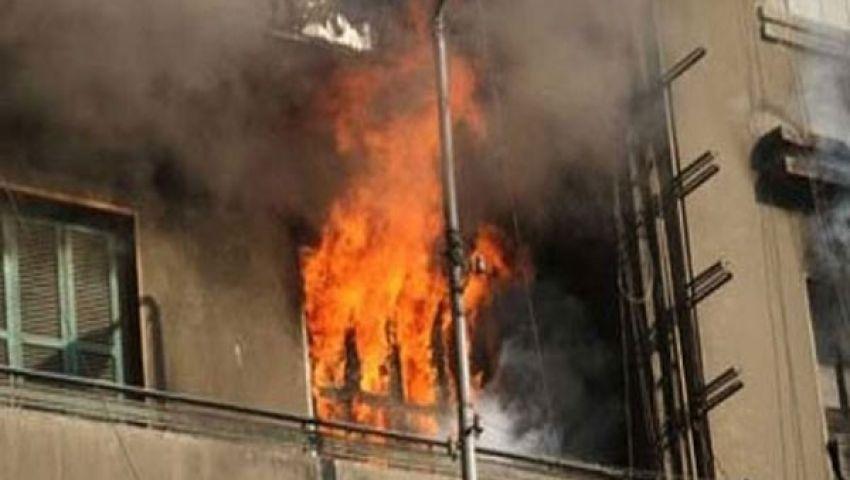 إخماد حريق نشب بأحد العقارات شرق الإسكندرية