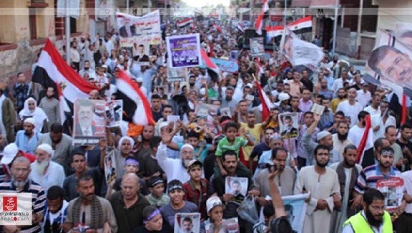 مسيرات لمؤيدي مرسي تطمئن المسيحيين وترفض الانقلابيين