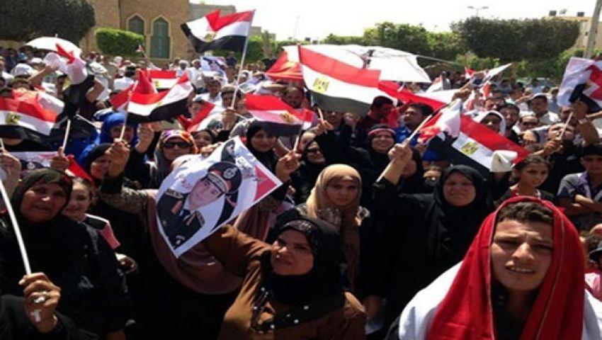 مؤيدو السيسي يواصلون تظاهرهم بالقائد إبراهيم