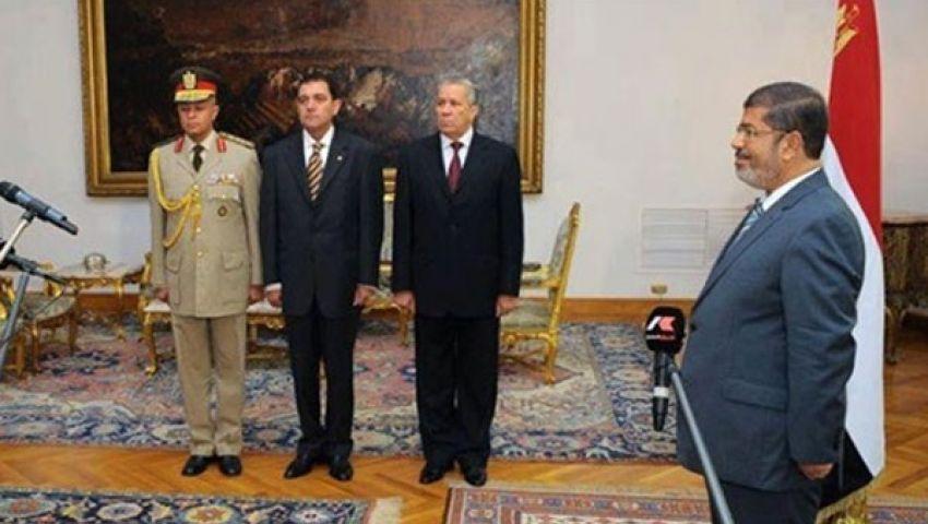 17 محافظًا يؤدون اليمين الدستورية أمام مرسي