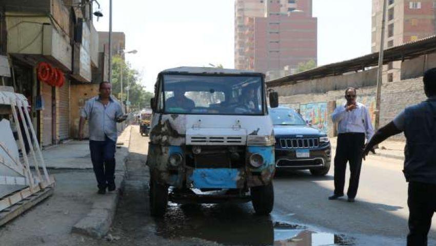 بالصور| حملات لضبط مخالفات السرفيس والمواقف العشوائية بالقاهرة
