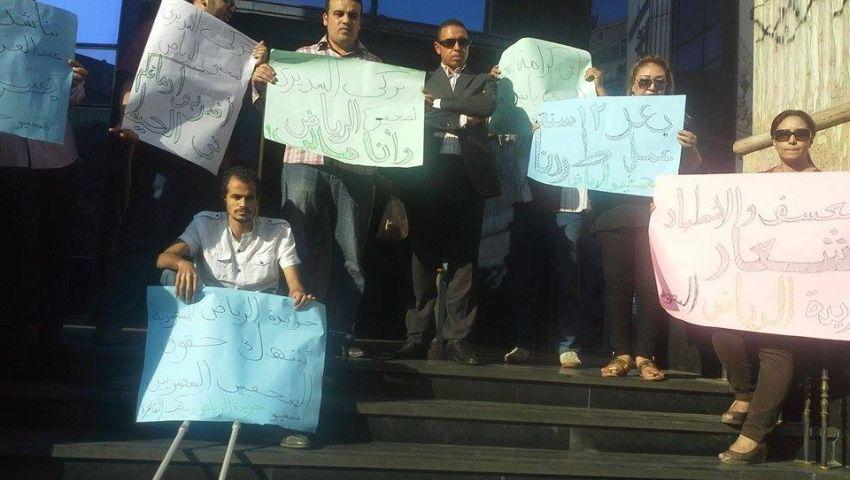 وقفة لصحفيي الرياض السعودية أمام النقابة