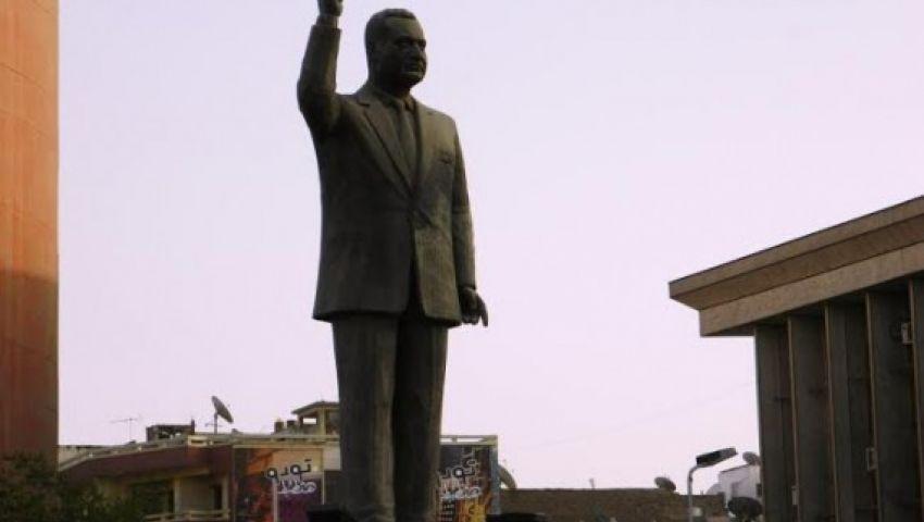 وضع تمثال لجمال عبد الناصر بميدان شهداء بورسعيد
