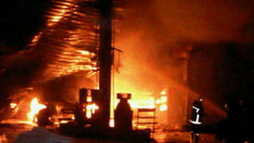 السيطرة على حريق هائل داخل محطة بنزين بالمنوفية