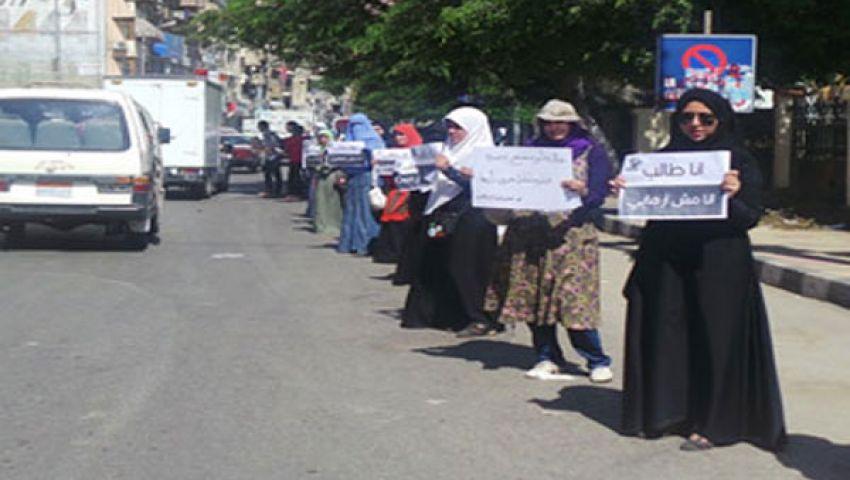 سلسلة بشرية ضد الانقلاب في بلبيس