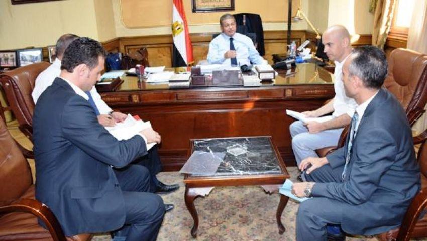 وزير الرياضة يلتقى رئيس الاتحاد المصري للسلاح
