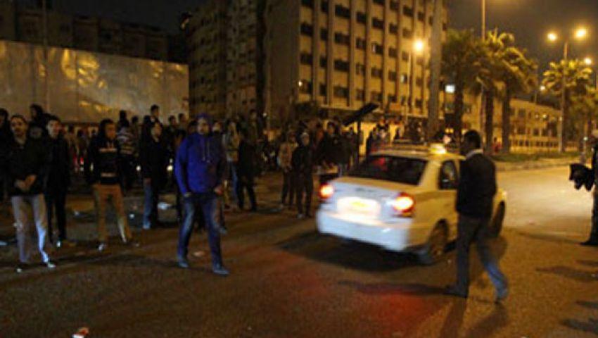 البلطجية يهاجمون مؤيدي مرسي في ميدان الجيزة