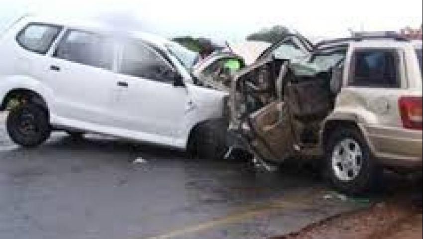 إصابة 11 مواطنًا في حادث تصادم بطريق بني سويف الزراعي