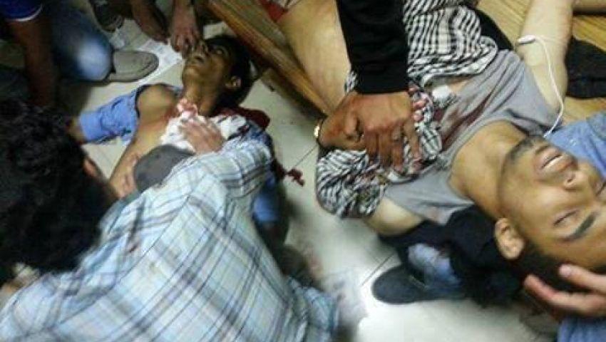ضابط يحاول تغيير رصاصة خالد حسين بغرفة العمليات