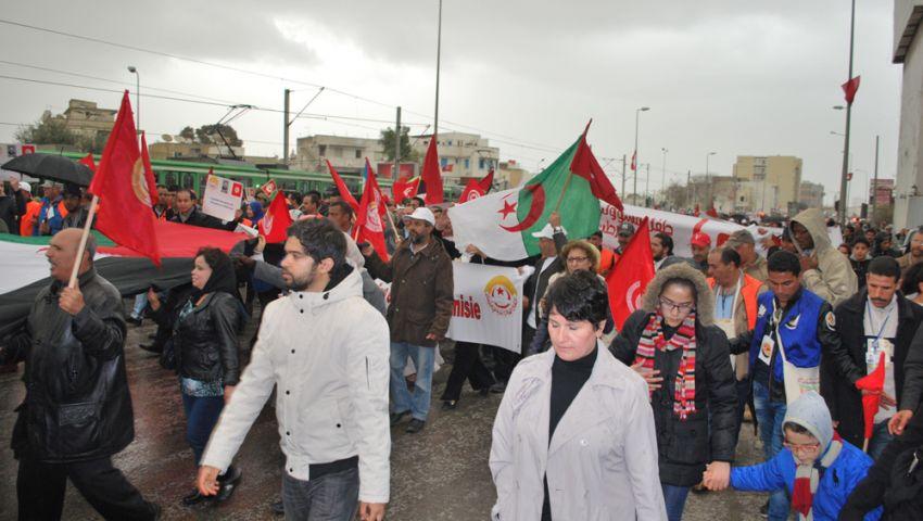 بالصور.. فعاليات المنتدى الاجتماعي العالمي للتنديد بمذبحة باردو بتونس