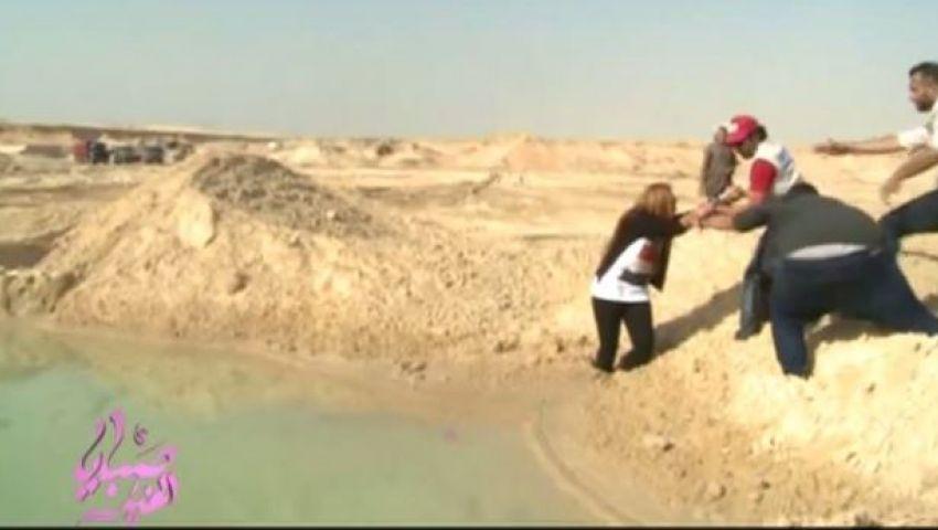 فيديو..ريهام السعيد تتعرض لورطة بقناة السويس الجديدة