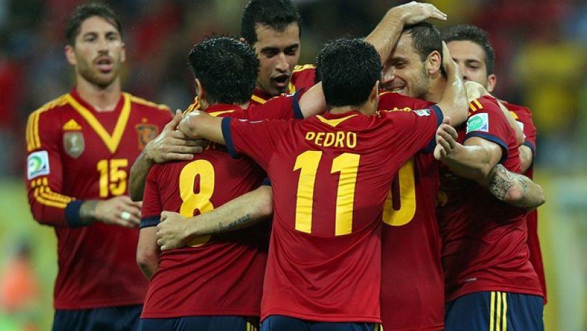 منتخب إسبانيا يصل إلى ريو دى جانيرو للقاء تاهيتى