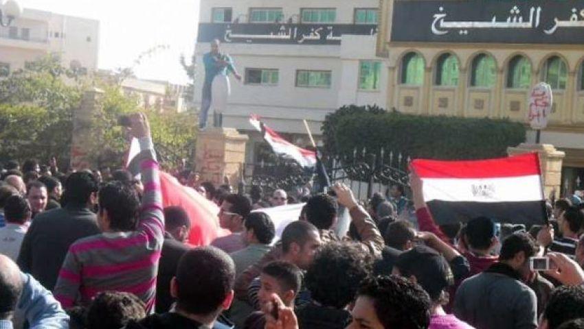 حركات سياسية بكفر الشيخ تتظاهر ضد قانون التظاهر