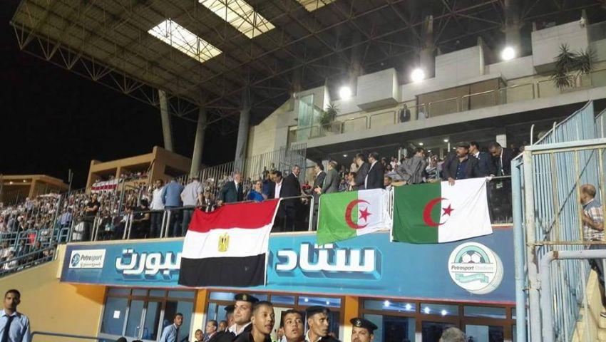 بالصور..وزير الرياضة يصل لمباراة الزمالك وبجاية