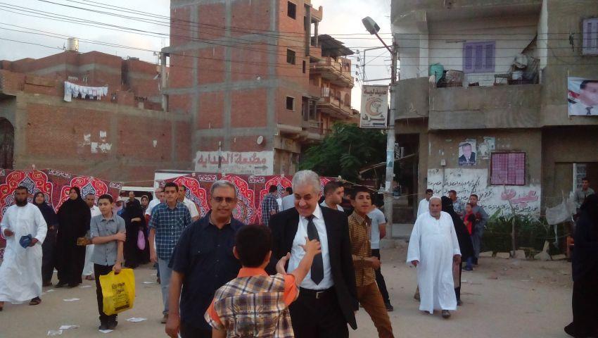 حمدين صباحى يؤدى صلاة العيد فى بلطيم