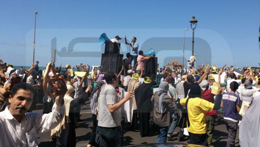 3 مسيرات باللون الأصفر بالإسكندرية