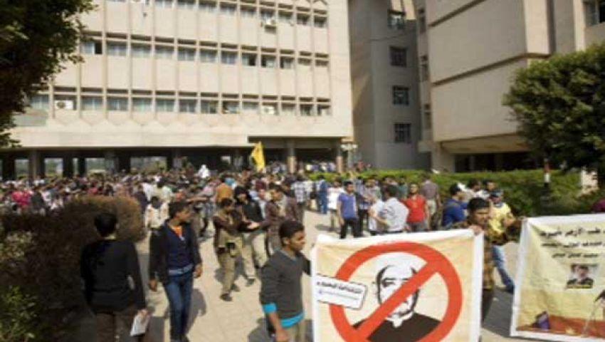 طلاب أزهر أسيوط يتظاهرون للإفراج عن المعتقلين