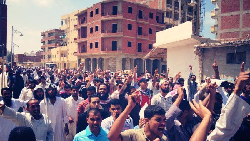مسيرة لأنصار الإخوان بالعزبة الغربية بمطروح