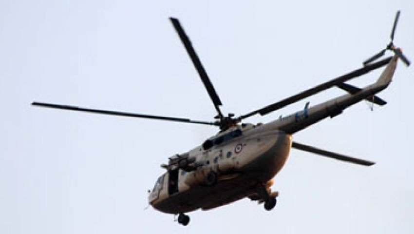 طائرات أباتشي تحلق في سماء الغربية