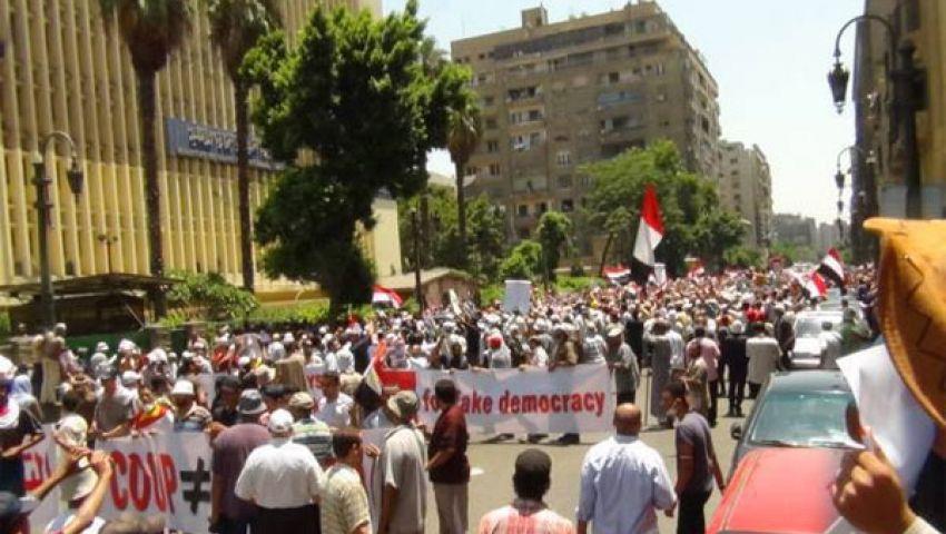 وصول مؤيدي مرسي شارع قصر العيني