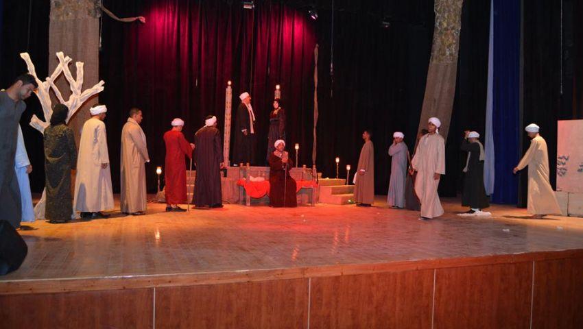 بالصور.. الخوف تفتتح مهرجان القصور المسرحي بالقناطر