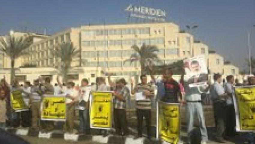 مسيرات حاشدة بمدينة نصر تأييدًا لمرسي