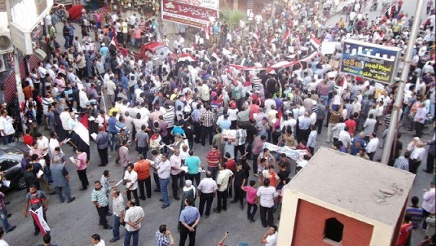 مسيرة بالدراجات البخارية لأنصار مرسي بأسيوط
