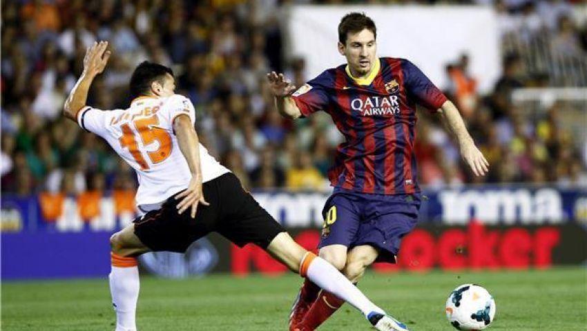 فيديو..ميسي ينقذ برشلونة من التعادل أمام فالنسيا