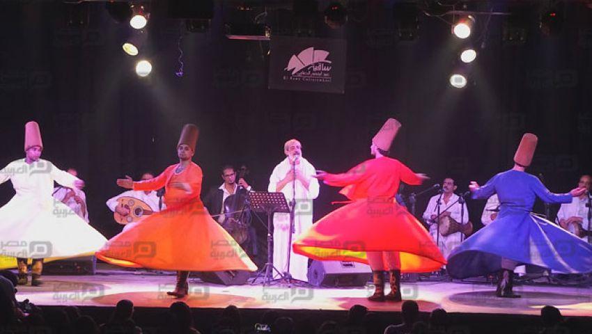 بالفيديو والصور.. رقصة الدراويش والتنورة بحفل المولوية المصرية