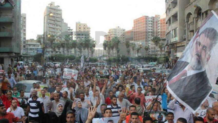 أنصار الإخوان يواصلون التظاهر بالمحافظات رفضًا للانقلاب العسكري