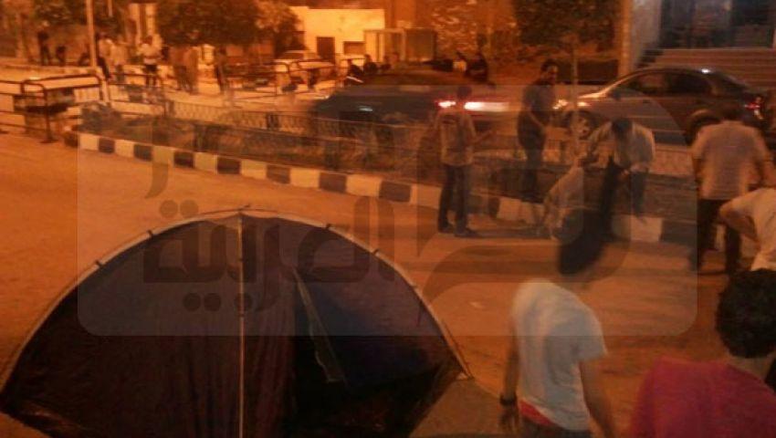 بالصور..تمرد تعتصم أمام منزل الرئيس بالشرقية