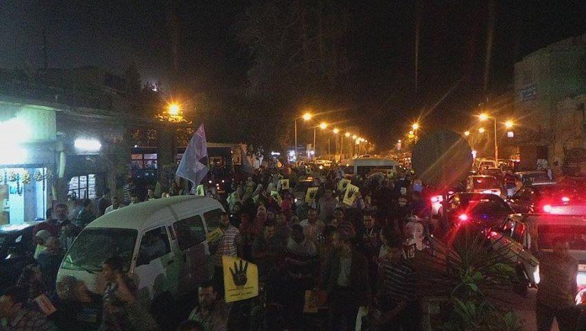 بالصور.. مسيرة ليلية بالمعادي تضامنًا مع الحراك الطلابي