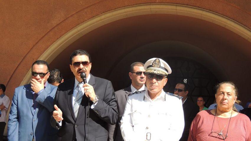 بالصور..مدير أمن الإسكندرية يطالب المدرسين بحماية عقول الطلاب