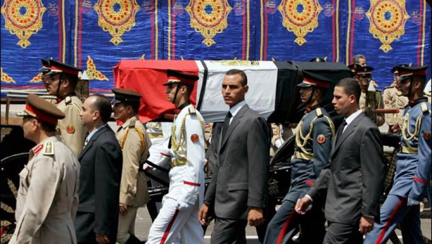 جنازة عسكرية لمجند المحلة ضحية أحداث سيناء