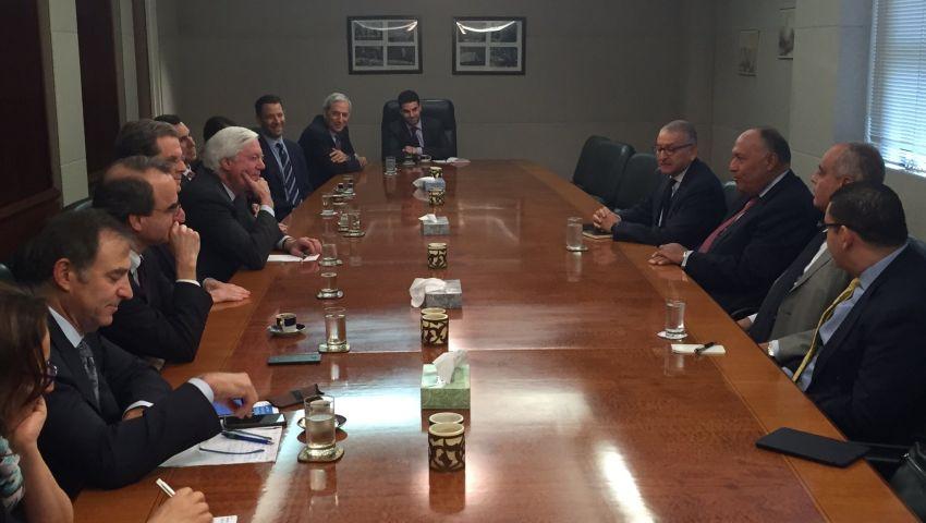 شكري يلتقي وفد اللجنة اليهودية الأمريكية بمقر البعثة المصرية بالأمم المتحدة