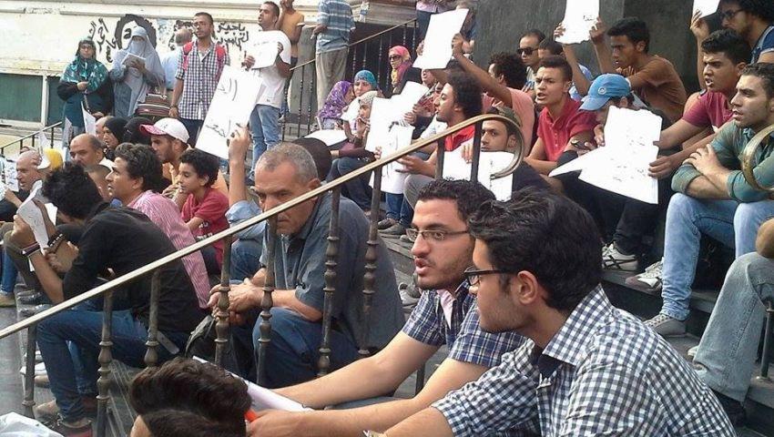 بالصور.. وقفة احتجاجية لأهالي الطلاب المعتقلين