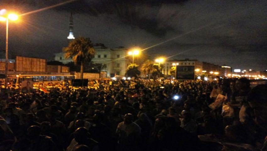 الأغاني الوطنية في مسيرات أنصار مرسي بالإسكندرية