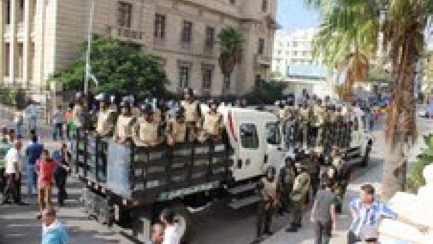 أمن الإسكندرية يمنع تظاهرة لأنصار مرسي بالقائد إبراهيم