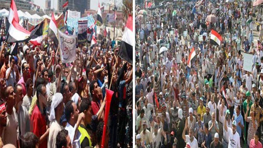 مسيرات حاشدة لمؤيدى ومعارضي مرسي اليوم