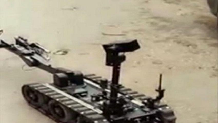 فيديو..تفكيك قنبلة جديدة باستخدام الروبوت بطنطا